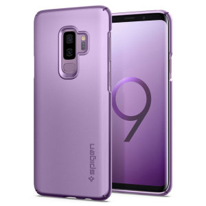 Durable and non-slip material coated, this lilac purple Spigen Thin Fit series case for the Samsung Galaxy S9 Plus offers premium protection for your shiny new handset, all in a slim fitting, lightweight and stylish design.