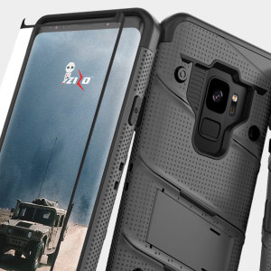 Equip your Samsung Galaxy S9 with military grade protection and superb functionality with the ultra-rugged Bolt case in grey from Zizo. Coming complete with a tempered glass screen protector and a handy belt clip / kickstand.