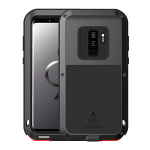 Protect your Samsung Galaxy S9 Plus with one of the toughest and most protective cases on the market, ideal for helping to prevent possible damage from water and dust - this is the black Love Mei Powerful Protective Case.
