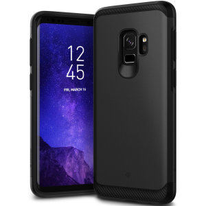 Protect your Samsung Galaxy S9 with this stunning tough dual-layered armoured case in black. Made with robust dual-layered yet slim material, this TPU body with a sleek outer layer features an attractive two-tone finish.