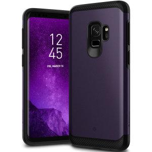 Bescherm je Samsung Galaxy S9 met deze verbluffende stoere dubbellaagse gepantserde hoes. Gemaakt van robuust dual-layered maar slank materiaal, deze TPU body met een gladde buitenlaag heeft een aantrekkelijke tweekleurige finish.