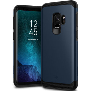 Protect your Samsung Galaxy S9 with this stunning tough dual-layered armoured case in midnight blue. Made with robust dual-layered yet slim material, this TPU body with a sleek outer layer features an attractive two-tone finish.