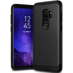 Protect your Samsung Galaxy S9 Plus with this stunning tough dual-layered armoured case in black. Made with robust dual-layered yet slim material, this TPU body with a sleek outer layer features an attractive two-tone finish.