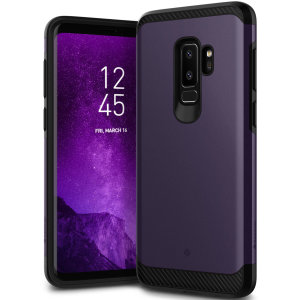 Protect your Samsung Galaxy S9 Plus with this stunning tough dual-layered armoured case in violet. Made with robust dual-layered yet slim material, this TPU body with a sleek outer layer features an attractive two-tone finish.