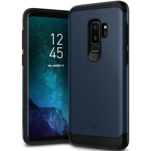 Protect your Samsung Galaxy S9 Plus with this stunning tough dual-layered armoured case in midnight blue. Made with robust dual-layered yet slim material, this TPU body with a sleek outer layer features an attractive two-tone finish.