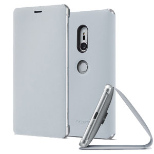 This high quality official bi-fold folio case from Sony houses your Xperia XZ2 smartphone, providing protection and access to your ports and features while incorporating a built-in viewing stand - in grey.
