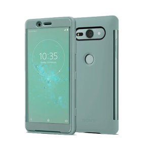 This official Style Cover Touch in green from Sony houses your Xperia XZ2 Compact, providing protection and full functionality through the see-through touchscreen font cover, allowing you to view and action incoming messages and calls.