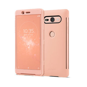 This official SCTH50 Style Cover Touch in pink from Sony houses your Xperia XZ2 Compact, providing protection and full functionality through the see-through touchscreen font cover, allowing you to view and action incoming messages and calls.