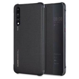 Protect your Huawei P20 Pro's screen and keep up to date with the time and notifications thanks to the intuitively designed smart view window on the black Huawei flip case. Crafted from the finest materials, the case provides a sophisticated feel.