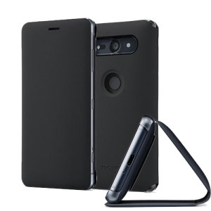 This high quality official bi-fold folio SCSH50 case from Sony houses your Xperia XZ2 Compact smartphone, providing protection and access to your ports and features while incorporating a built-in viewing stand - in black.