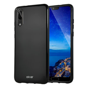 Custom moulded for the Huawei P20, this solid black Olixar FlexiShield case provides slim fitting and durable protection against damage.