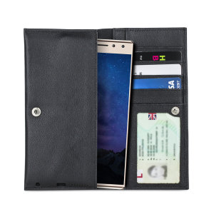 Crafted from premium quality genuine leather, with precision stitching and stud closure, and featuring a luxurious soft lining, document pockets and card slots, the Primo Wallet for the Alcatel 5 will protect your phone in style.