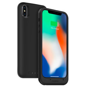 Mophie Juice Pack Air battery case is the first battery case for iPhone X, which can be fully recharged using a standard Qi wireless charger. This 1720 mAh case will add up to 9 hours of talk time to your iPhone X, whilst protecting it from scratches.