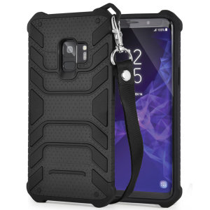 Protect your shiny new Samsung Galaxy S9 from daily bumps, drops and scratches with Olixar Laminar dual-layer tough case in black. The case features a quickly removable lanyard, which allows your phone to be securely transported around your neck.