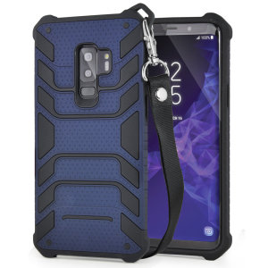 Protect your shiny new Samsung Galaxy S9 Plus from daily bumps, drops and scratches with Olixar Laminar dual-layer tough case in navy. The case features a quickly removable lanyard, which allows your phone to be securely transported around your neck.