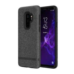 Protect your Samsung Galaxy S9 Plus with this slim fitting and smooth touch Esquire Series Carnaby case from Incipio. Featuring a premium grey fabric with a contrasting dark TPU frame, this case matches the beauty of your new Galaxy S9 Plus perfectly.