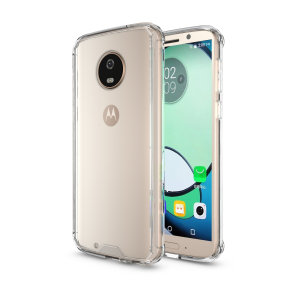 Custom moulded for the Motorola Moto G6, this crystal clear Olixar ExoShield tough case provides a slim fitting, stylish design and reinforced corner protection against shock damage, keeping your device looking great at all times.