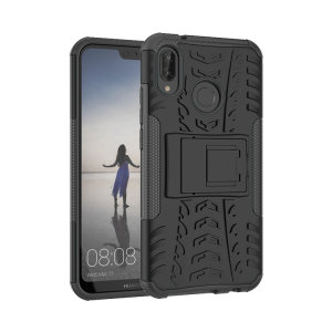 Protect your Huawei P20 Lite from bumps and scrapes with this black ArmourDillo case. Comprised of an inner TPU case and outer impact-resistant exoskeleton, the Armourdillo not only offers sturdy and robust protection, but also a sleek modern styling.