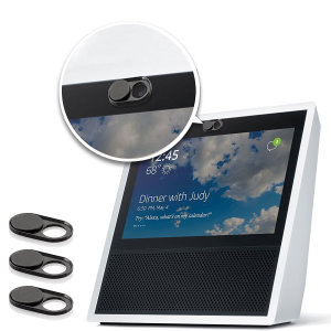 Beat the hackers with this 3 pack of stainless steel webcam covers for your Amazon Echo Show. Quickly gain or deny access to your devices' camera with this sliding cover. An easy low tech solution to a high tech problem.