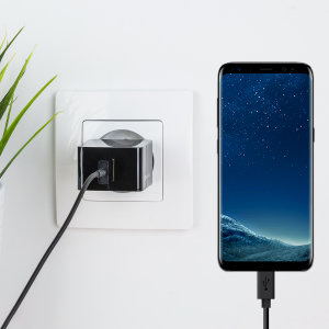 Charge your Samsung Galaxy S8 / S8 Plus and any other USB-C device quickly and conveniently with this compatible 2.4A high power USB-C EU charging kit. Featuring a EU wall adapter and USB-C cable.