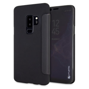 Have full use of your screen and keep up with notifications without even opening the front cover with the 4smarts interactive flip case for the Samsung Galaxy S9 Plus. This case not only looks great but also offers outstanding protection for the S9 Plus.