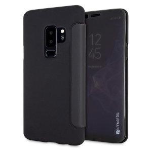Haben Sie eine vollständige Verwendung von Ihrem Bildschirm und halten Sie Schritt mit den Benachrichtigungen ohne die Vorderabdeckung mit der 4smarts interaktiven Klapphülle für das Samsung Galaxy S9 Plus öffnen zu müssen. Diese Hülle sieht nicht nur großartig aus aber bietet auch einen hervorragenden Schutz für das S9 Plus