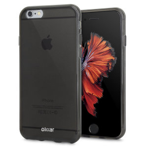 Custom moulded for the iPhone 6, this smoke black FlexiShield gel case by Olixar provides excellent protection against damage as well as a slimline fit for added convenience.