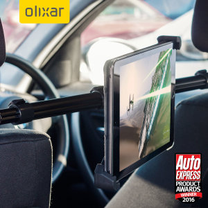 This versatile and ergonomic Olixar in-car holder will secure your iPad 2017 to your car's headrests allowing to easily position your tablet, in order to find the most comfortable position for your back seat passengers to watch movies or play games.