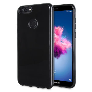 Custom moulded for the Huawei P Smart, this Solid Black FlexiShield case from Olixar provides a slim fitting and durable protection against damage, with an alluring jet black appearance.