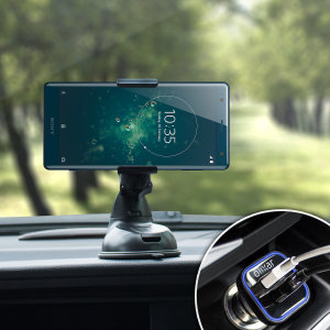 Essential items you need for your smartphone during a car journey all within the Olixar DriveTime In-Car Pack. Featuring a robust one-handed phone car mount and car charger with an additional USB port for your Sony Xperia XZ2.