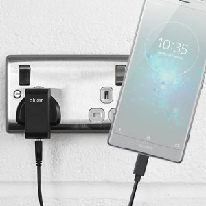 Charge your Sony Xperia XZ2 and any other USB device quickly and conveniently with this compatible 2.5A high power USB-C UK charging kit. Featuring a UK wall adapter and USB-C cable.