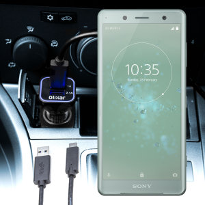 Houd je Sony Xperia XZ2 Compact volledig opgeladen op de weg met deze compatibele Olixar-oplader voor high power-auto's.