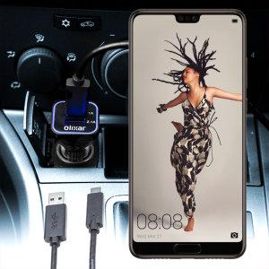 Håll din Huawei P20 fullt laddad på vägen med den 3.1 A billaddaren. Som en extra bouns kan du ladda en extra USB-enhet från den inbyggda USB-C porten.