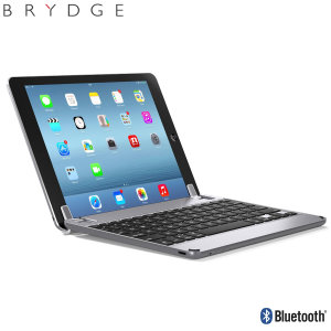 This durable highly stylish BrydgeAir iPad aluminium Bluetooth keyboard case in space grey lets you type faster, while at the same time protecting your iPad 9.7 2018 and also features backlit keys and built-in stereo speakers.