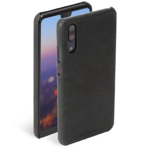Krusell's Sunne cover in black combines Nordic chic with Krusell's values of sustainable manufacturing for the socially-aware Huawei P20 owner who wants an elegant genuine leather accessory.