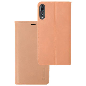 Krusell's 4 Card Sunne Folio Wallet leather case in nude combines Nordic chic with Krusell's values of sustainable manufacturing for the socially-aware Huawei P20 Pro owner who seeks 360° protection with extra storage for cash and cards.