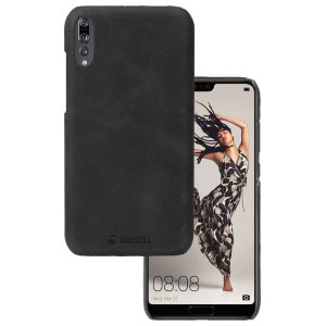 Krusell's Sunne cover in black combines Nordic chic with Krusell's values of sustainable manufacturing for the socially-aware Huawei P20 Pro owner who wants an elegant genuine leather accessory.