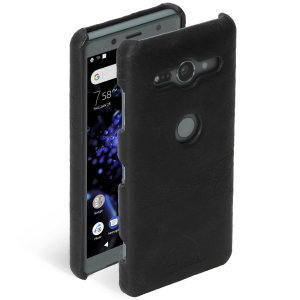 Krusell's Sunne cover in vintage black combines Nordic chic with Krusell's values of sustainable manufacturing for the socially-aware Sony Xperia XZ2 Compact owner who wants an elegant genuine leather case.