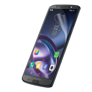 Keep your Moto G6 Plus screen in pristine condition with this Olixar scratch-resistant screen protector 2-in-1 pack.