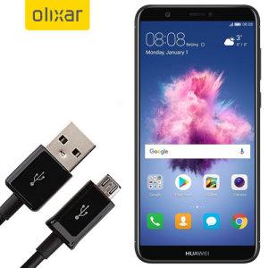 Denna 1 meter data / laddningskabel från Olixar låter dig ansluta din Huawei P Smart till en PC via Micro USB. Den stöder laddningsströmmar över 2 ampere, så din Huawei P Smart kan vara fulladdad på nolltid.