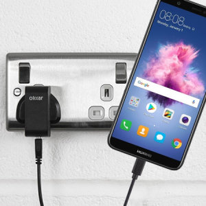 Charge your Huawei P Smart quickly and conveniently with this compatible 2.5A high power charging kit. Featuring mains adapter and USB cable.