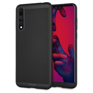 A supremely precision engineered lightweight slimline case in tactical black with a perforated mesh pattern that looks great, adds grip and aids heat dissipation from your Huawei P20 Pro, as well as enhance the high performance beauty of the device.