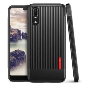 Protect your Huawei P20 with this precisely designed and durable case from VRS Design. Made with sturdy, yet flexible premium material, this black polycarbonate hardshell features a slim design with precise cut-outs for your phone's ports.