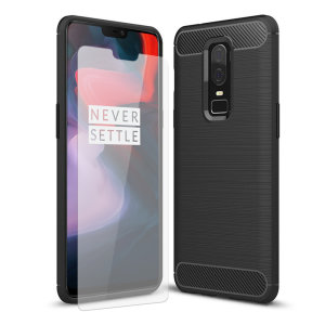 Flexible rugged casing with a premium matte finish non-slip carbon fibre and brushed metal design, the Olixar Sentinel case in black keeps your OnePlus 6 protected from 360 degrees with the added bonus of a tempered glass screen protector.