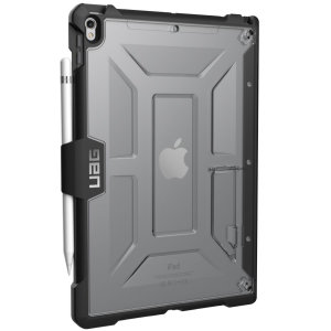 The Urban Armour Gear Plasma semi-transparent tough case in ice clear & black for the iPad Pro 10.5 features a protective case with a brushed metal UAG logo insert for an amazing rugged and stylish design. Including an integrated Apple pencil holder.