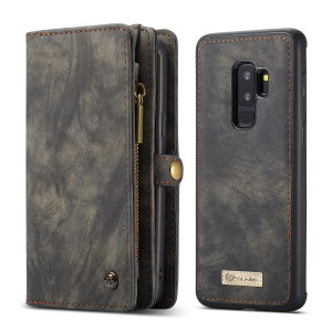 This luxury wallet case for Samsung Galaxy S9 Plus in black combines exceptional utility with a professional aesthetic to create a case that's perfect for everyday use. Complete with detachable inner frame for travelling light, as well as a zip pouch.