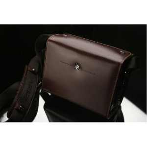 Gariz Premium Leather Camera Bag For Mirrorless Cameras - Maroon