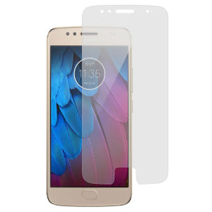 Keep your Motorola Moto G5S' screen in pristine condition with this film screen protector 2-in-1 pack.