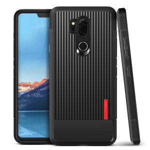 Protect your LG G7 ThinQ with this precisely designed and durable case from VRS Design. Made with sturdy, yet flexible premium material, this black polycarbonate hardshell features a slim design with precise cut-outs for your phone's ports.
