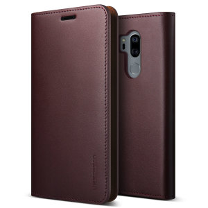 Protect your LG G7 ThinQ with this precisely designed flip case in wine from VRS Design. Made with genuine premium leather, the VRS Design Diary oozes style and attractiveness.